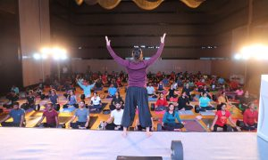 Grand Master Akshar organizes largest Wheel Workout event