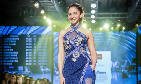 Rakul Preet Singh walks the ramp for Narendra Kumar and Traworld at BTFW 19