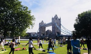 Fagun Thakrar Leads Yoga Mega-Event for people of Central London at invitation of United Nations